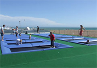 Hastings amusement park - beach trampoline complex