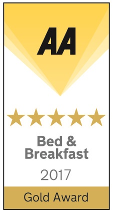 5 Star award for Bed and Breakfast Rye guest house